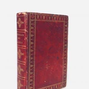 Almanach des dames 1828 – Livre cuir rouge avec gravures