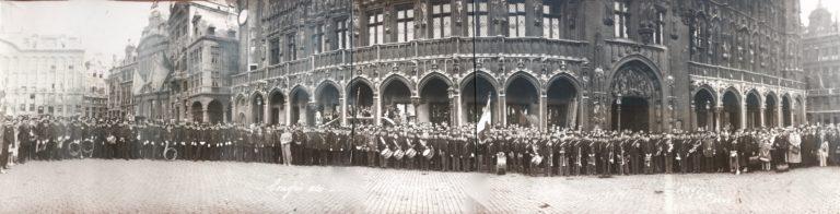 Fanfare des pompiers d'Amiens, collection de photos anciennes.