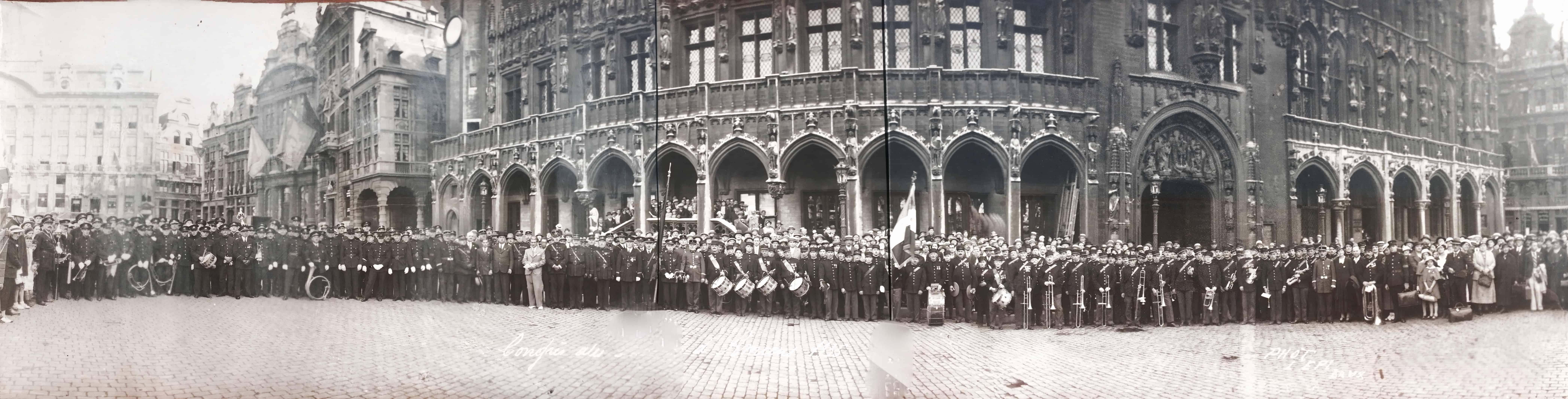 Fanfare de pompiers, collection de photos anciennes