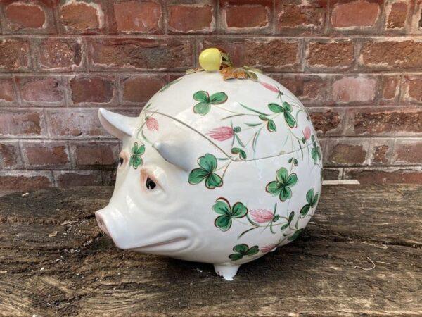 richard ginori cochon boite en céramique