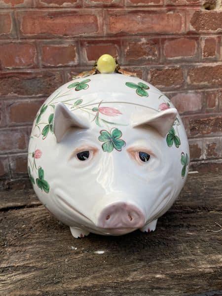 richard ginori cochon en céramique servant de boite 2