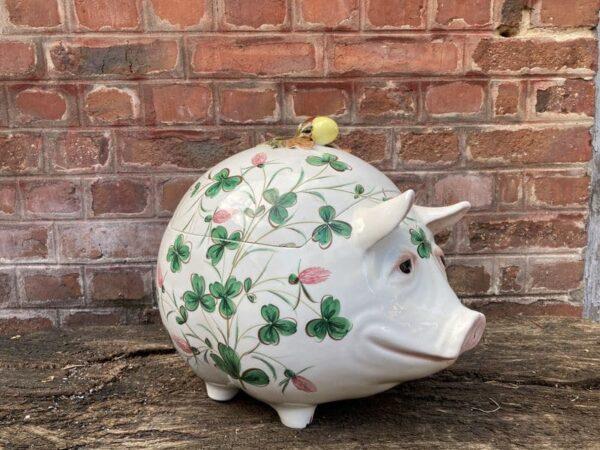 richard ginori cochon en céramique servant de boite
