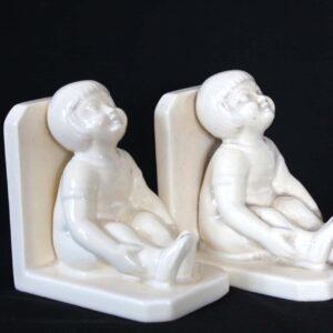 ODYV serre-livres en céramique craquelé – Filles Art-déco