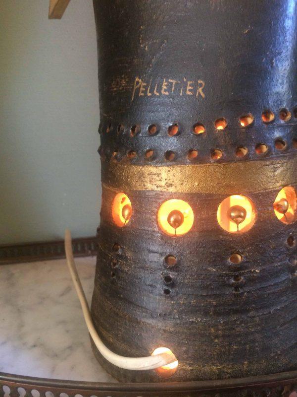 Lampe soleil signé Pelletier