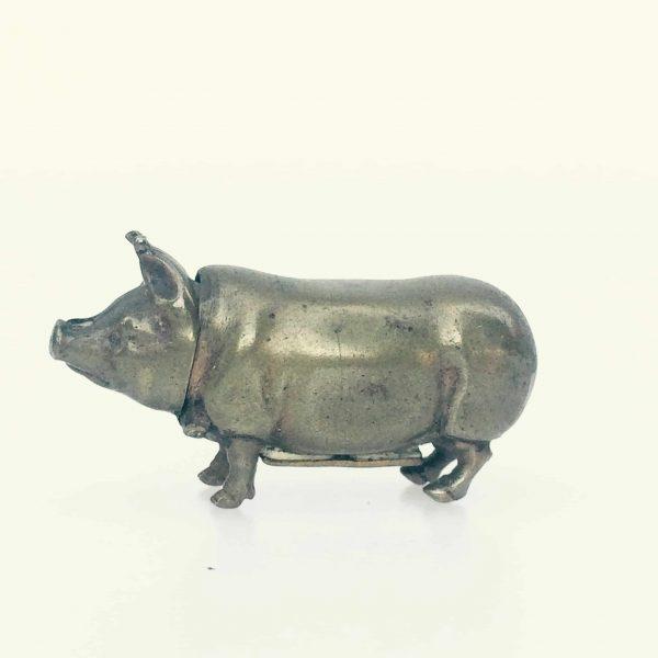 cochon porte allumette coté