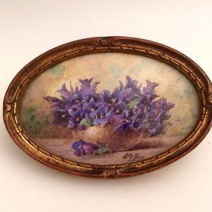 Bouquet de fleurs à l'aquarelle signé Lily GIRY