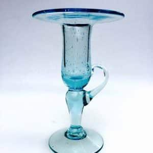 BIOT – Bougeoir en verre bulle signé