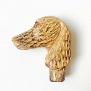 Pommeau de canne – Tête de chien teckel à poils dur