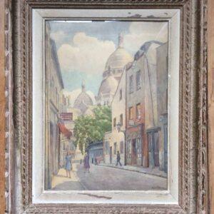 Basilique du Sacré-coeur de Montmartre – Tableau à l'aquarelle signé WATERKEYN