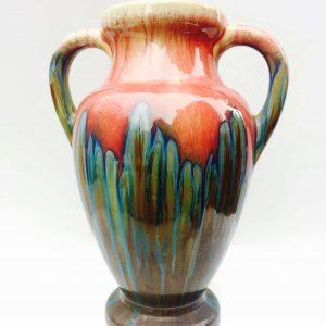 Vase Pierrefonds en grès flammé Art-Nouveau