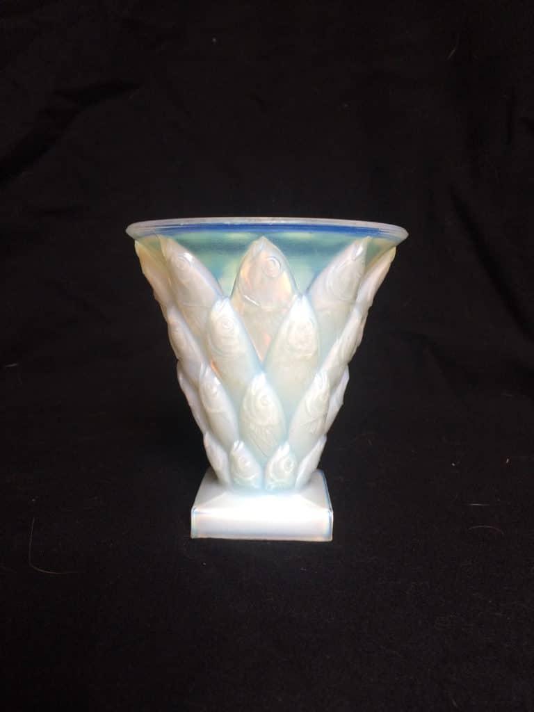 vase aux poissons Sabino Art glass