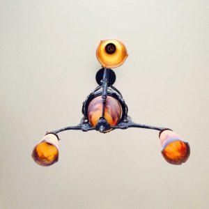 Lustre signé Muller frères à Luneville – Suspension Art-nouveau