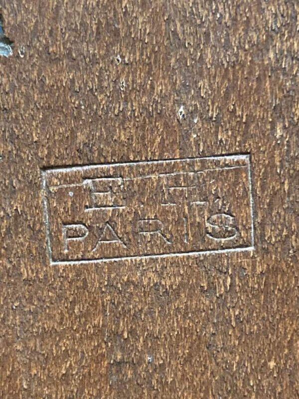 baromètre thermomètre en bois sculpté décor forêt noire estampille fabricant