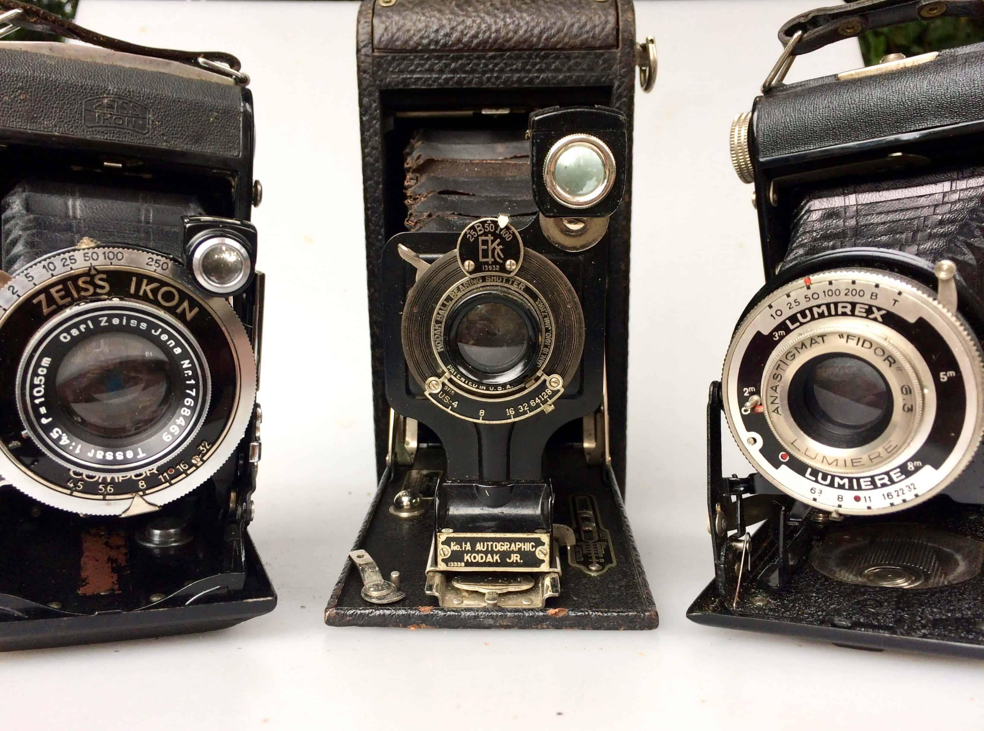 Collection d'appareils photos anciens