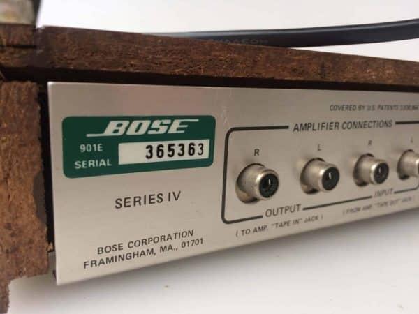 Bose 901 serie numero de serie