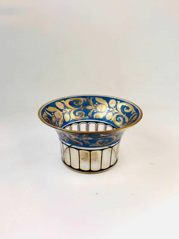 Coupe verre bleu et or