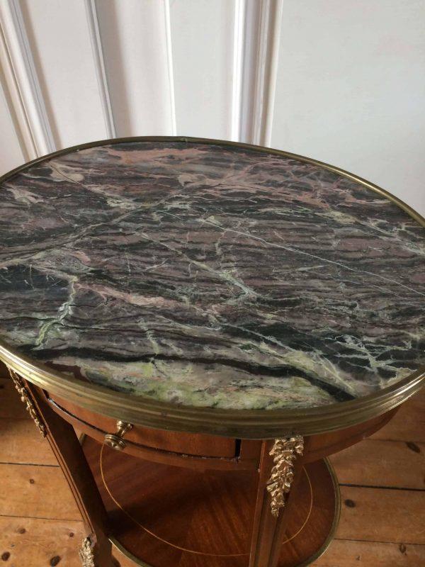 table bouillotte gueridon
