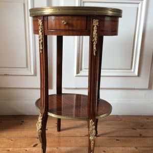 Gueridon table bouillotte Louis XVI