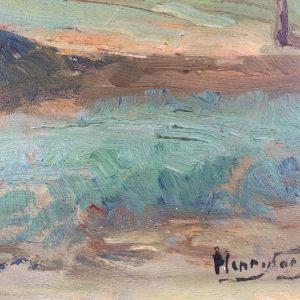 HENRY CARON – paysage d'Auvergne – Tableau école Française