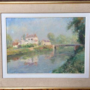 Édouard LEFORT-MAGNIEZ – Village près d'un pont
