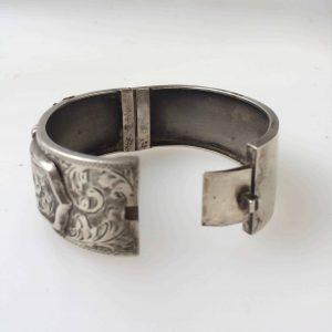 Manchette Steampunk bracelet en argent anglais 1936
