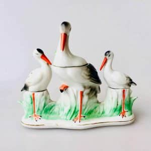 Cigognes porcelaine Saxe