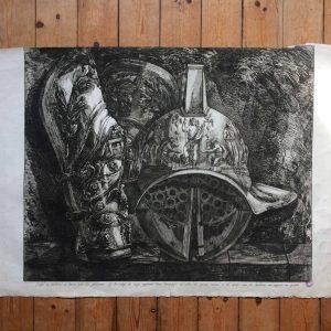 Francesco PIRANESI Casque et jambières en bronze pour les gladiateurs