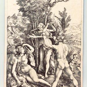 Héliogravure originale d'Albrecht Dürer – l'Effet de la Jalousie