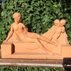 Louis BOTINELLY- Suzanne au bain – Statue en terre cuite