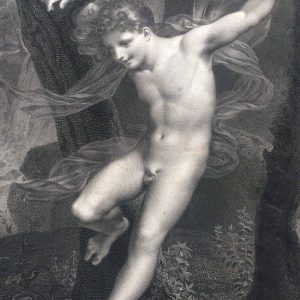 le ZEPHYR peint par PRUD'HON gravé par LAUGIER en 1820