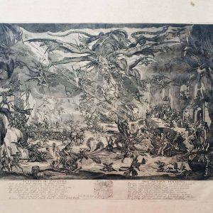 La tentation de saint-Antoine gravé d'après Callot