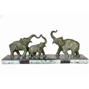 Élephants bronze