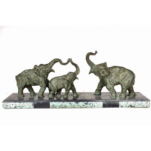 Élephants bronze