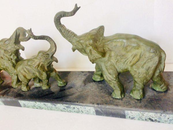 éléphants bronze decoux