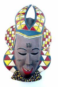 masque de fête Baoulé - région de Bouaké centre - RCI