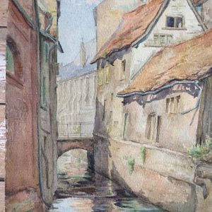 B. MACKIEWICZ – aquarelle d'AMIENS – la rue des Archers