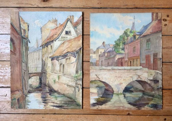 B. Mackiewicz aquarelle paire