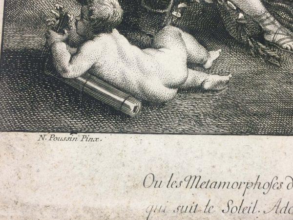 Gravure de L'Empire De Flore nicolas poussin