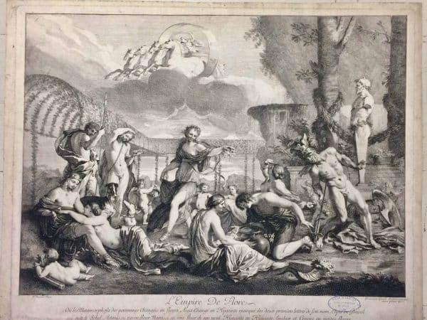 Gravure de L'Empire De Flore