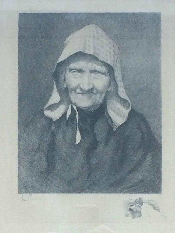 Lucien Pénat vieille femme