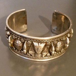 bracelet manchette argent pharaon égyptien