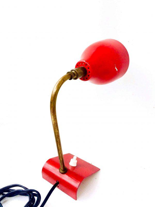 lampe rouge vintage
