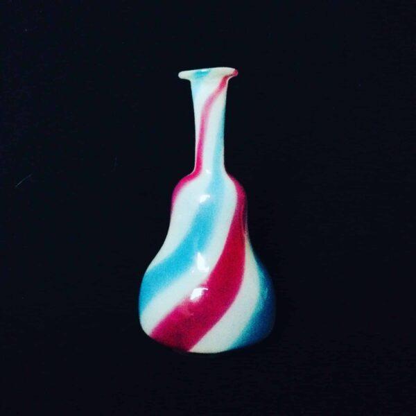 Flacon en verre tricolore clichy