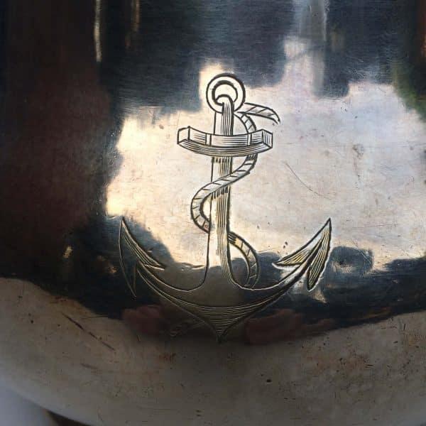 Sucrier officier de marine ancre argent