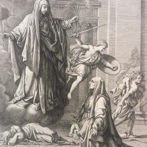 Gérard Audran d'après Nicolas POUSSIN – Sainte Françoise