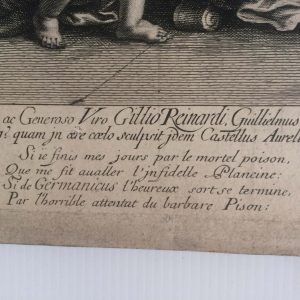 Guillaume Chasteau d'après Nicolas POUSSIN – La mort de Germanicus
