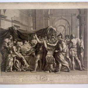 Guillaume Chasteau d'après Nicolas POUSSIN - La mort de Germanicus