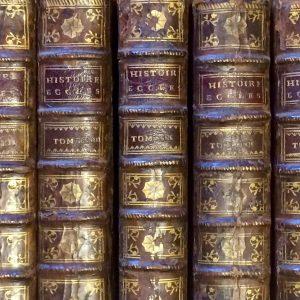 Histoire Ecclésiastique – Abbé Fleury – Livre reliure cuir de 1722