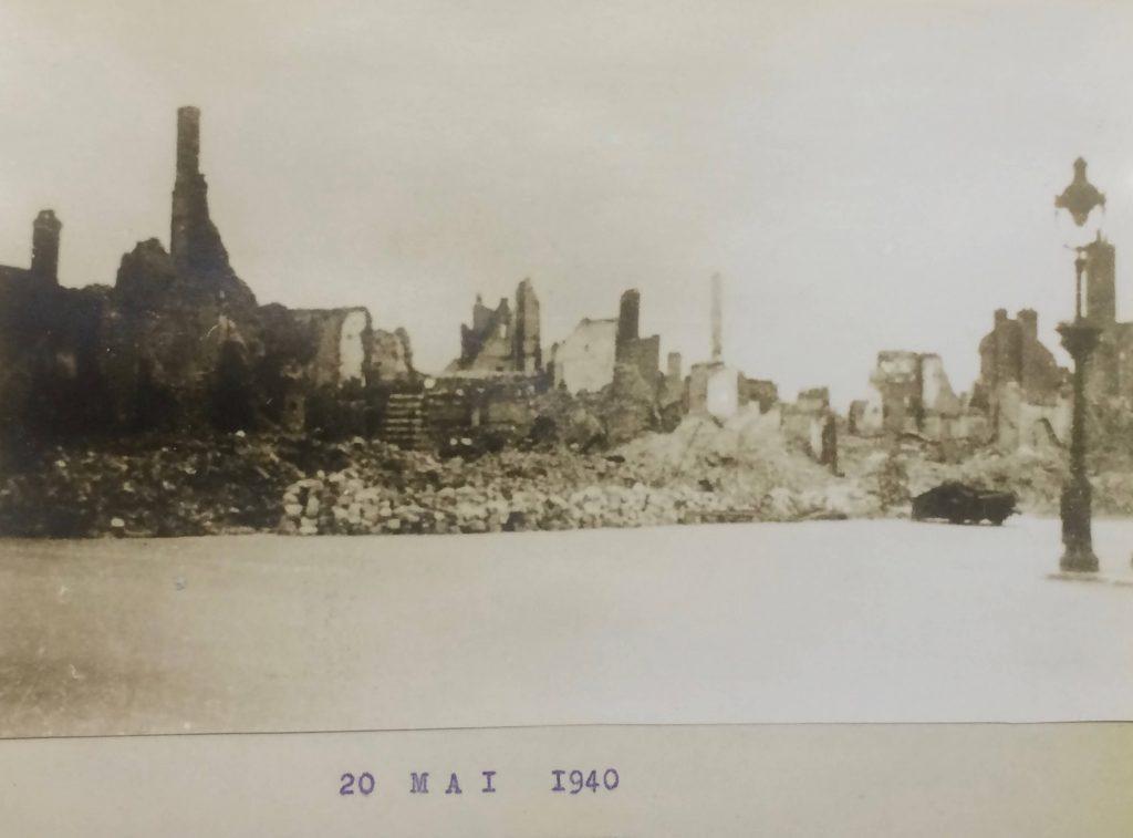 Abbeville bombardé le 20 mai 1940