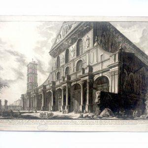 Estampe PIRANESI - Veduta della basilica di S. Paolo fuor delle mura